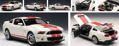 1/18 AUTOart Ford Mustang Shelby GT500 (White w/ Red Stripes)