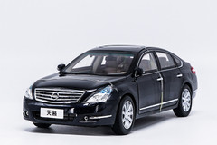 1/18 Dealer Edition 2008-2012 Nissan Teana (Black) Diecast Car Model