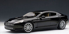 1/18 AUTOart ASTON MARTIN RAPIDE - BLACK Diecast Car Model 70216