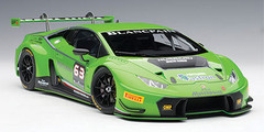 1/18 AUTOart LAMBORGHINI HURACAN GT3 (VERDE MANTIS 4-LAYER/GREEN PEARL/#63) Diecast Car Model 81529