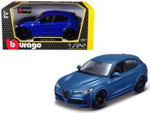 1/24 Bburago Alfa Romeo Stelvio Quadrifoglio (Blue) Diecast Car Model