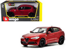 1/24 Bburago Alfa Romeo Stelvio Quadrifoglio (Red) Diecast Car Model