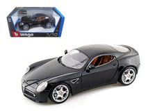 1/18 Bburago Alfa Romeo 8C Competizione (Black) Diecast Model Car