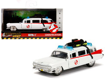 "1/32 Jada 1959 Cadillac Ambulance Ecto-1 from ""Ghostbusters"" Movie ""Hollywood Rides"" Series Diecast Car Model"