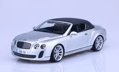 1/18 Bburago 2012-2013 Bentley Continental Supersports Soft Top (Silver) Diecast Car Model