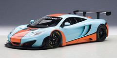 1/18 AUTOart MCLAREN 12C GT3 (BLUE/ORANGE PAINT SCHEME) Diecast Car Model 81343