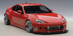 1/18 AUTOart ROCKET BUNNY TOYOTA 86 (RED/SILVER WHEELS) Diecast Car Model 78757