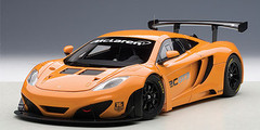 1/18 AUTOart MCLAREN 12C GT3 PRESENTATION CAR (METALLIC ORANGE) Diecast Car Model 81340