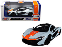"1/24 Motormax McLaren P1 with ""Gulf"" Livery Light Blue with Orange Stripe Diecast Car Model"