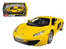 1/24 Bburago Mclaren MP4-12C (Yellow) Diecast Car Model