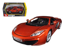 1/24 Bburago Mclaren MP4-12C (Metallic Orange) Diecast Car Model