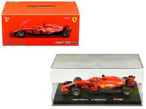 1/43 Bburago Ferrari F1 Formula 1 Racing SF71H #7 Kimi Raikkonen Diecast Car Model