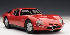 1/18 AUTOart 1965 ALFA ROMEO TZ2 - RED Diecast Car Model 70198
