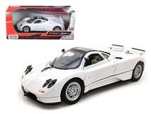 1/24 Motormax Pagani Zonda C12 White Diecast Car Model