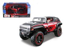 "1/24 Maisto 2008 Hummer HX Concept Black/Red ""All Stars"" Diecast Car Model"