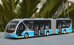 1/43 Foton BJD WG180F Public Transportation Trolley BRT Bus w/ Headlights & Interior lights Diecast Car Model