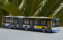 1/43 Foton BJ6160C6CCD Articulated Public Transportation Bus w/ headlights & interior lights Diecast Car Model