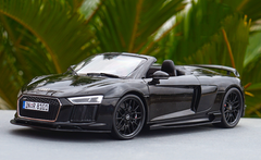 1/18 Dealer Edition 2016 Audi R8 V10 Plus Spyder Coupe (Black) w/ Rear Wing Diecast Car Model