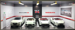1/18 Nissan GTR GT-R Theme 4 Car Garage Parking White Scene w/ Lights (car model not included)