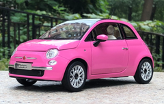 1/18 Norev Fiat 500 (Pink) Diecast Car Model