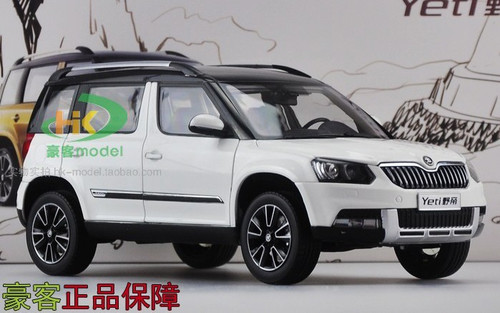 1 18 skoda yeti white. Black Bedroom Furniture Sets. Home Design Ideas