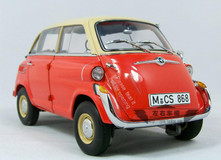 1/18 BMW 600 ISETTA (ORANGE RED) DIECAST CAR MODEL
