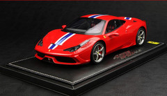BBR HANDMADE RESIN 1/18 FERRARI 458 SPECIALE (RED) LIMITED 199