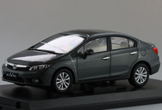 1/18 HONDA CIVIC (GREY) DIECAST CAR MODEL!