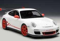 1/18 AUTOART PORSCHE 911 997 GT3 RS 3.8 WHITE W/ ORANGE RIM Diecast Model 78143