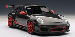 1/18 AUTOART PORSCHE 911(997) GT3 RS 3.8 (GREY BLACK W/ GUARDS RED STRIPES) Diecast Model 78141