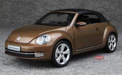 KYOSHO 1/18 VOLKSWAGEN VW BEETLE (BROWN) CONVERTIBLE CAR MODEL!