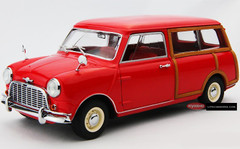 KYOSHO 1/18 MORRIS MINI TRAVELLER (RED) DIECAST CAR MODEL!