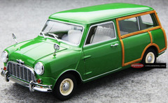 KYOSHO 1/18 MORRIS MINI TRAVELLER GREEN DIECAST CAR MODEL!