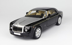 1/18 KYOSHO ROLLS-ROYCE PHANTOM COUPE (DIAMOND BLACK) Diecast Car Model