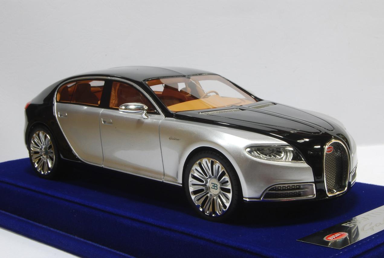 1/18 bugatti 16c galibier (silver/black) - livecarmodel