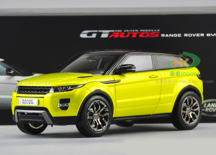 1 18 Range Rover Evoque Yellow Livecarmodel Com