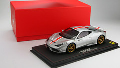 LIMITED 20! BBR HANDMADE RESIN 1/18 FERRARI 458 SPECIALE (SILVER)!