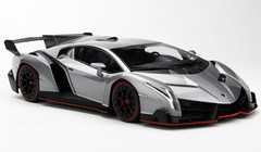 1/18 Kyosho Lamborghini Veneno Hardtop (Grey w/ Red Line) Car Model