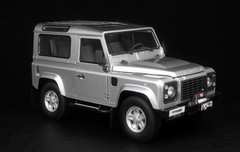 1/18 Kyosho Land Rover Defender 90 Short Wheelbase (Silver) Diecast Car Model