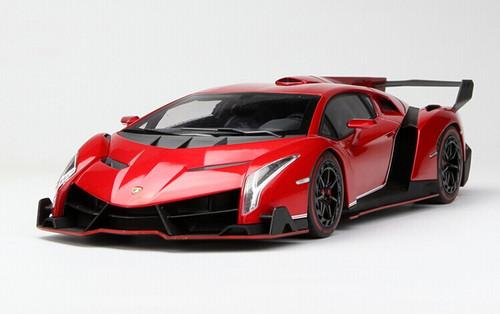 1/18 Kyosho Lamborghini Veneno (Red w/ Red Line ...