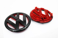 Gloss Black/Red Front Emblem MK6 Golf, GTI, Jetta Sportwagen