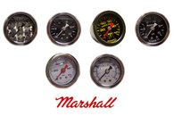 Marshall Liquid Filled Fuel Pressure Gauges 0-100psi