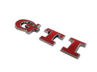 Red GTI Emblem