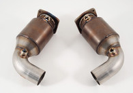 AWE Tuning - 997.2TT High Flow Cat Sections for OE Muffler