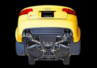 AWE Tuning - Audi RS4 Resonated Exhaust - Diamond Black Tips
