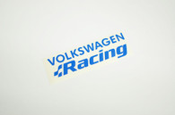 Blue Volkswagen Racing Sticker