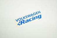 Blue Volkswagen Racing Sticker