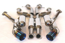 Nissan 370Z 09-17 Titanium Dual Performance Exhaust System (Bevel Edge Tips)