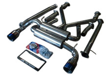 TOP SPEED PRO-1 63.5mm Ti Tips Catback Exhaust Systems 370Z Z34 VQ37VHR 09-16