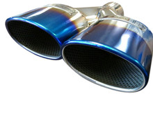 Top Speed Pro1 Universal Oval AMG Look Slide on Titanium Look Tips Exhaust Upgrade